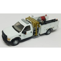 536-57A2.01 - HO Scale River Point Station 2010 Ford F-550 XLT Regular Cab Dually Mini-Pumper Fire Truck - White