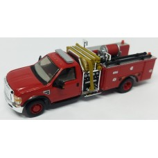 536-57A2.10 - HO Scale River Point Station 2010 Ford F-550 XLT Regular Cab Dually Mini-Pumper Fire Truck - Red