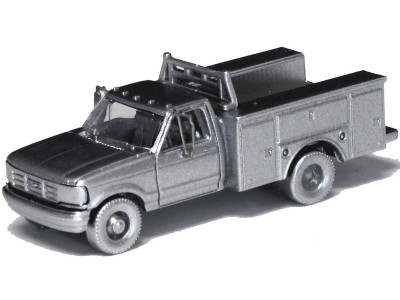 N36-J725.00 - N Scale 1992 River Point Station Ford F-350 4X4 Regular Cab Service Truck Kits (Pair)