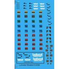 HO Scale Lonestar Models Bobcat Skid Steer Loader Decal Set