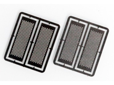 HS1 Masterbilt Models 1/87 (HO) Scale Exhaust Heat Shields - Vertical Slots Accessory (2 Pair)