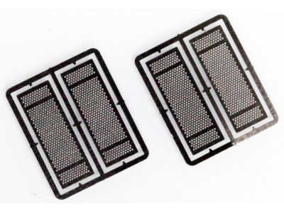HS2 Masterbilt Models 1/87 (HO) Scale Exhaust Heat Shields - Round Holes Accessory (2 Pair)