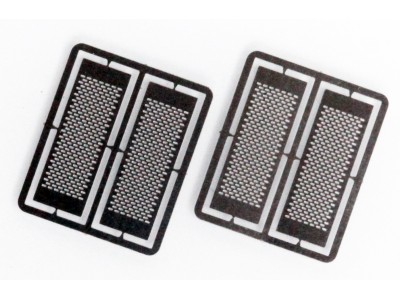 HS3 Masterbilt Models 1/87 (HO) Scale Exhaust Heat Shields - Horizontal Slots Accessory (2 Pair)