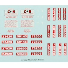 HO Scale Lonestar Models C&H Transportation Truck Tractor Decal Fleet Pack (3)