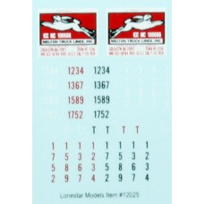 HO Scale Lonestar Models  Melton Truck Lines Truck Tractor Decal Fleet Pack (3)