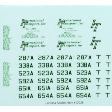 Lonestar Models International Transport (Green) Truck Tractor Decal Fleet Pack (5)