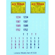 Lonestar Models Ace Doran Truck Tractor Decal Fleet Pack (5)