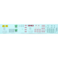 HO Scale Lonestar Models Owner-Operator Truck Tractor Decal Set #1 - 6 Assorted