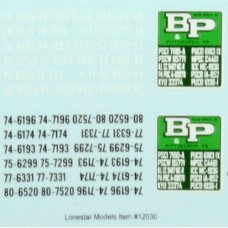 HO Scale Lonestar Models B&P Motor Express Truck Tractor Decal Fleet Pack (3)