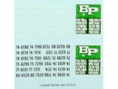 Lonestar Models B&P Motor Express Truck Tractor Decal Set (1)