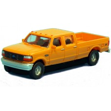 N36-L657.02 - N Scale 1992 River Point Station Ford F-250 4X4 Crew Cab Pickup -Yellow (Pair)