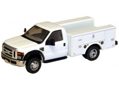 535-5725.01 - HO Scale River Point Station Ford F-450 XL Short Cab Service/Utility Truck - DRW HD - White/Chrome Trim