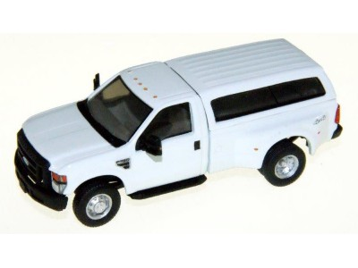 536-5195.01 - HO Scale River Point Station Ford F-350 XL Regular Cab Dually Type 1 Cap - White