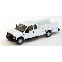 536-5221.01 - HO Scale River Point Station Ford F-350 XLT Super Cab Service/Utility Truck - White