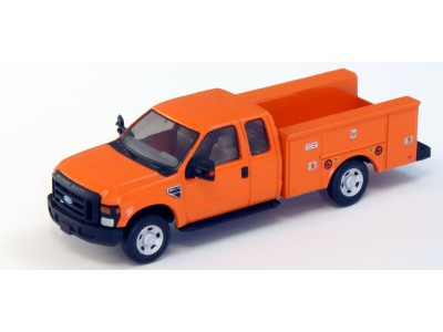 536-5221.09 - HO Scale River Point Station Ford F-350 XLT Super Cab Service/Utility Truck - Orange