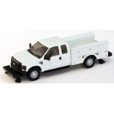 536-5228.01 - HO Scale River Point Station Ford F-350 XLT Super Cab Service/Utility Hi-Rail Truck - White