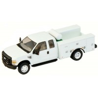 536-5321.01 - HO Scale River Point Station Ford F-450 XL Extended Cab Fleet Service Truck DRW - White
