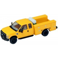 536-5321.02 - HO Scale River Point Station Ford F-450 XL Extended Cab Fleet Service Truck DRW - Yellow