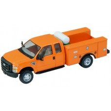 536-5321.09 - HO Scale River Point Station Ford F-450 XL Extended Cab Fleet Service Truck DRW - Orange