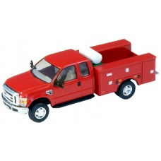 536-5321.10 - HO Scale River Point Station Ford F-450 XL Extended Cab Fleet Service Truck DRW - Red