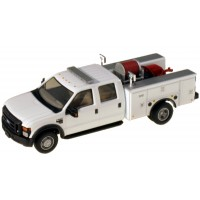 536-5402.01 - River Point Station 1/87 (HO) Scale 2008 Ford F-550 XLT4X4Crew Cab Dually Brush Fire Truck - White
