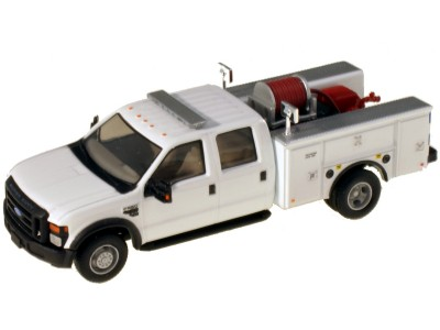 536-5402.01 - River Point Station 1/87 (HO) Scale 2008 Ford F-550 XLT 4X4 Crew Cab Dually Brush Fire Truck - White