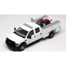 536-5402.01 - HO Scale River Point Station 2008 Ford F-550 XLT 4X4 Crew Cab Dually Brush Fire Truck - White