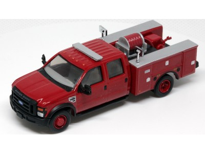 536-5402.10 - River Point Station 1/87 (HO) Scale 2008 Ford F-550 XLT 4X4 Crew Cab Dually Brush Fire Truck - Red
