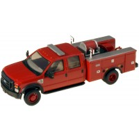 536-5402.10 - River Point Station 1/87 (HO) Scale 2008 Ford F-550 XLT4X4Crew Cab Dually Brush Fire Truck - Red