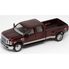 536-5455.15 - HO Scale River Point Station Ford F-450 XLT Crew Cab Dually - Metallic Red/Gold