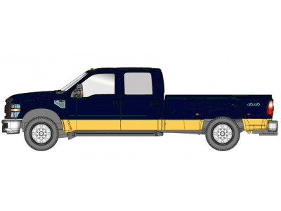 536-5455.32 - River Point Station Ford F-450 XLT Crew Cab Dually - Metallic Blue/Gold