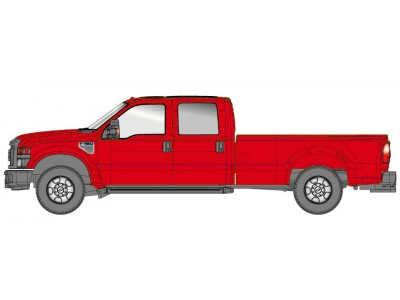 536-5657.10 - River Point Station Ford F-350 XLT Crew Cab - Red/Chrome Trim