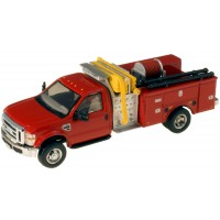536-57A2.10 - HO Scale River Point Station 2010 Ford F-550 XLTRegular Cab Dually Mini-Pumper Fire Truck - Red