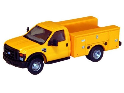 536-5725.02 - HO Scale River Point Station Ford F-450 XL Short Cab Service/Utility Truck - DRW HD - Yellow