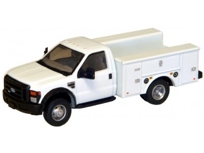 536-5725.01 - HO Scale River Point Station Ford F-450 XL Short Cab Service/Utility Truck - DRW HD - White