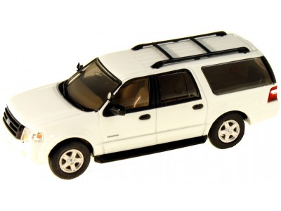 536-7607.01 - HO Scale River Point Station 2007 Ford Expedition EL SSP - White