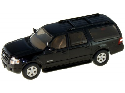 536-7607.07 - HO Scale River Point Station 2007 Ford Expedition EL SSP - Black