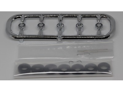 """537-5252.97 - River Point Station Accessory Pack - Wheel Set, Ford F-550, 17"""" Chrome, 4-slot openings"""