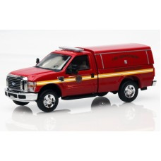 538-5057.79 - River Point Station Ford F-350 XLT Regular Cab - Red, Fire Department Investigation Unit w/Type 2 Cap