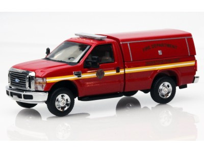538-5097.79 - HO Scale River Point Station Ford F-350 XLT Regular Cab - Red, Fire Department Investigation Unit w/Type 2 Cap