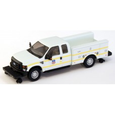 538-5228.87 - HO Scale River Point Station Ford F-350 XLT Super Cab Service/Utility Hi-Rail Truck - White, Union Pacific