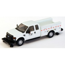 538-5228.92 - HO Scale River Point Station Ford F-350 XLT Super Cab Service/Utility Hi-Rail Truck - White, Norfolk Southern