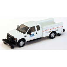 538-5228.94 - River Point Station Ford F-350 XLT Super Cab Service/Utility Hi-Rail Truck - White, CSX