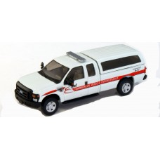 538-5257.P8 - HO Scale River Point Station Ford F-250 XLT Super Cab - White, DOT Commercial Vehicle Enforcement
