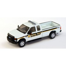 538-5257.W6 - River Point Station Ford F-250 XLT Super Cab - White, Sheriff