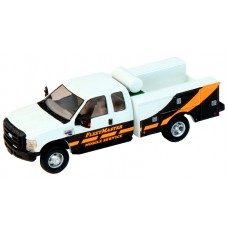 538-5321.S5 - HO Scale River Point Station Ford F-450 XL Extended Cab Fleet Service Truck DRW - FleetMaster Mobile Service