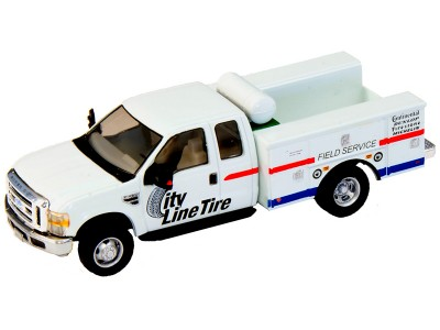 538-5321.S7 - HO Scale River Point Station Ford F-450 XL Extended Cab Fleet Service Truck DRW - City Line Tire Co.