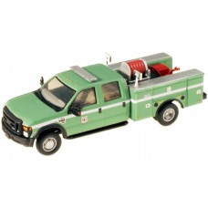 538-5402.07 - River Point Station 1/87 (HO) Scale 2008 Ford F-550 XLT4X4Crew Cab Dually Brush Fire Truck - USDA Green/White