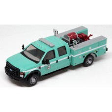 538-5402.07 - HO Scale River Point Station 2008 Ford F-550 XLT 4X4 Crew Cab Dually Brush Fire Truck - USDA Green/White