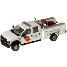 538-5402.24 - River Point Station 1/87 (HO) Scale 2008 Ford F-550 XLT4X4Crew Cab Dually Brush Fire Truck - USCG (Boston) White